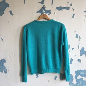 Lacoste Sweaters - Vintage Lacoste Teal Button Front Acrylic Cardigan